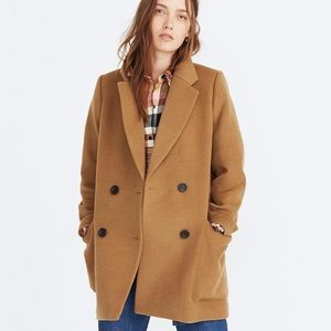 NWT Madewell Hollis Double-Breasted Coat